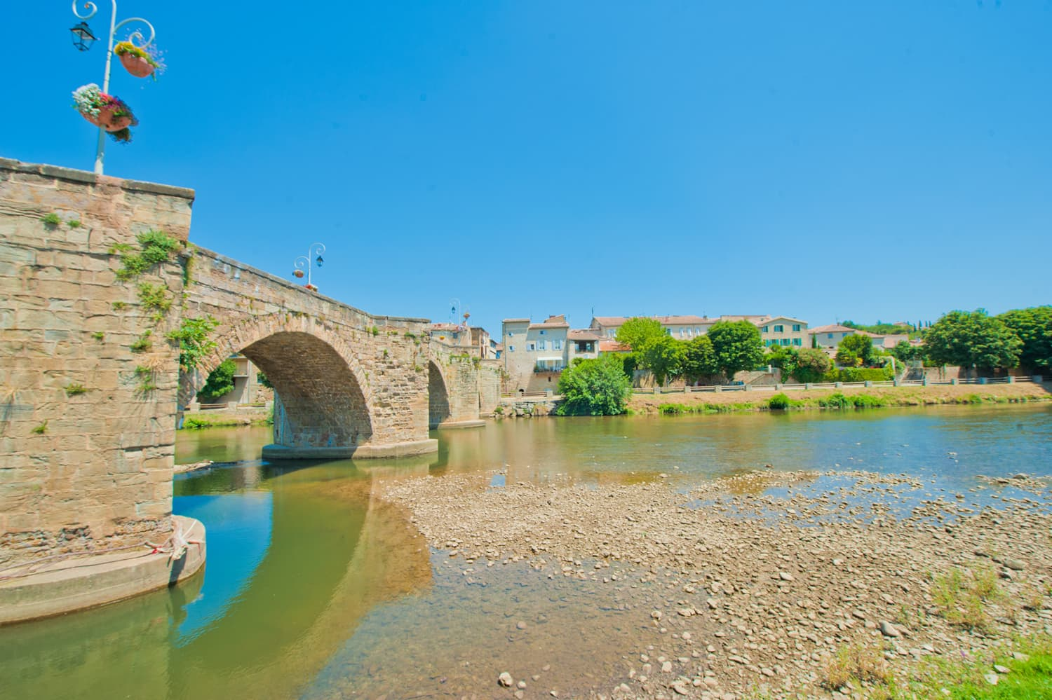 The River Aude in Limoux