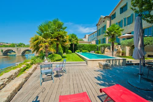 Rental home in Languedoc with private pool and view on the River Aude