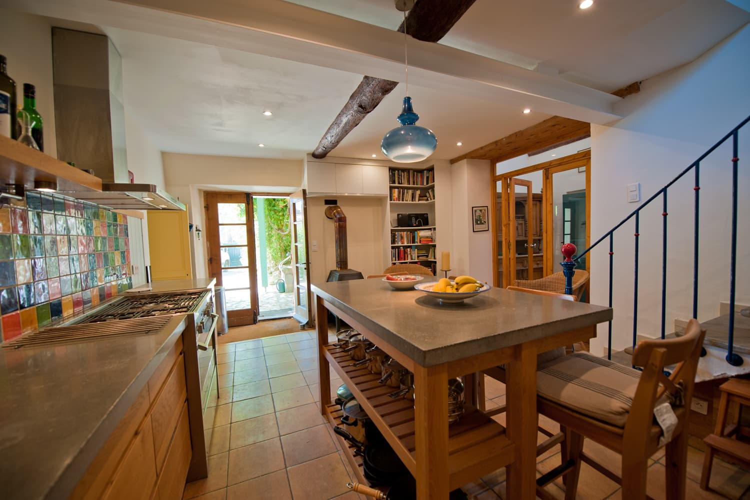 Kitchen in Languedoc rental home