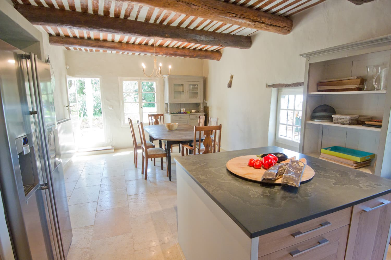 Kitchen in Provence self-catering home
