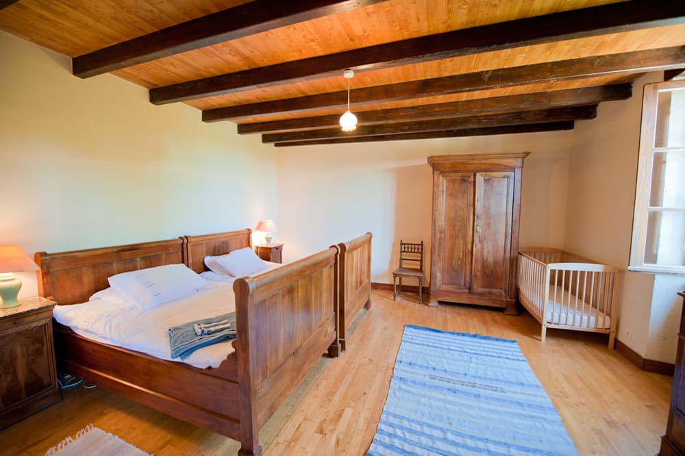 Bedroom in South West France self-catering home
