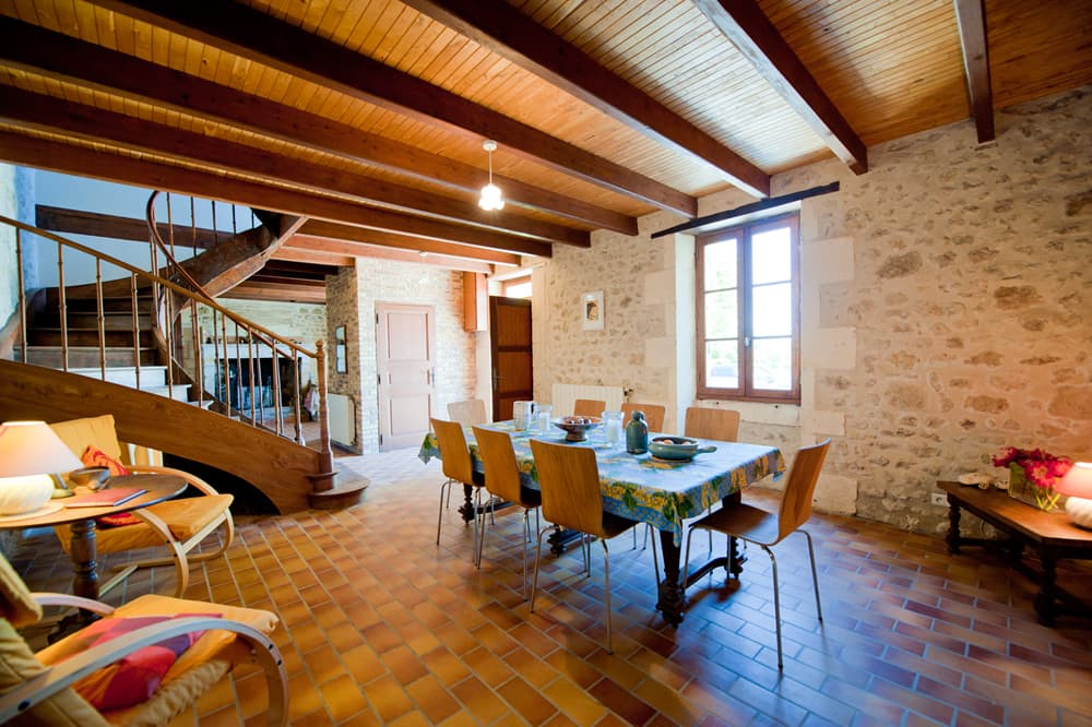 Dining room in South West France self-catering home