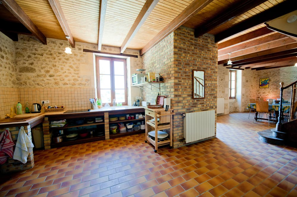 Kitchen in South West France self-catering home