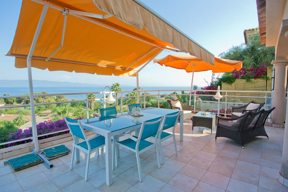 Terrace with Mediterranean Sea views in Corsica