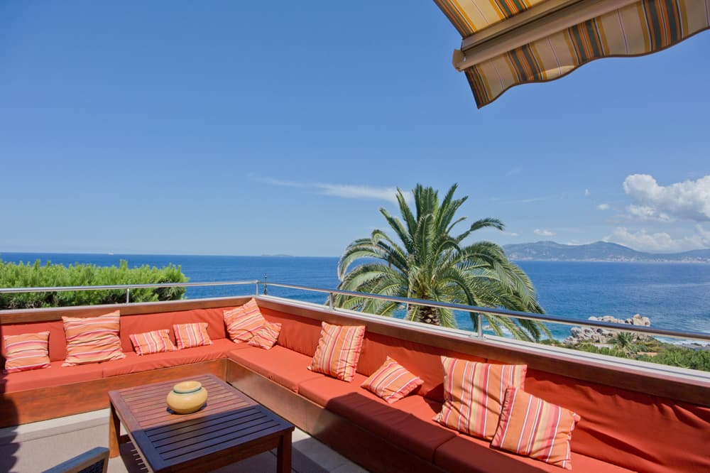 Terrace with Mediterranean Sea view in Corsica