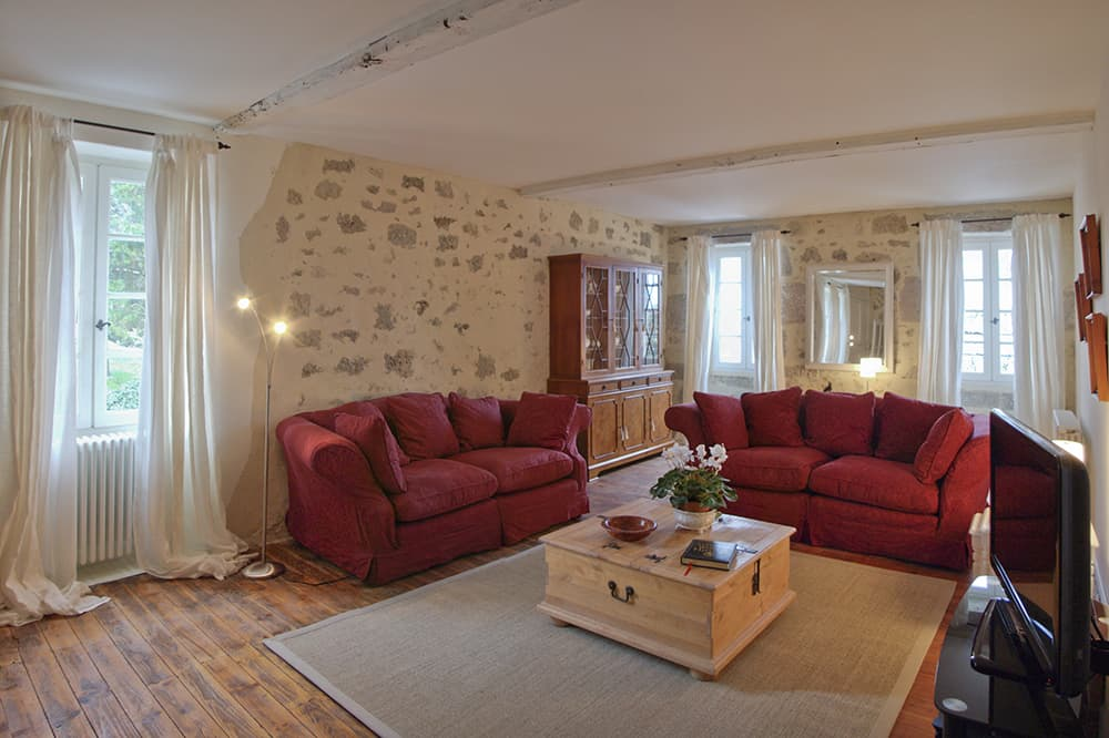 Living room in South West France holiday accommodation