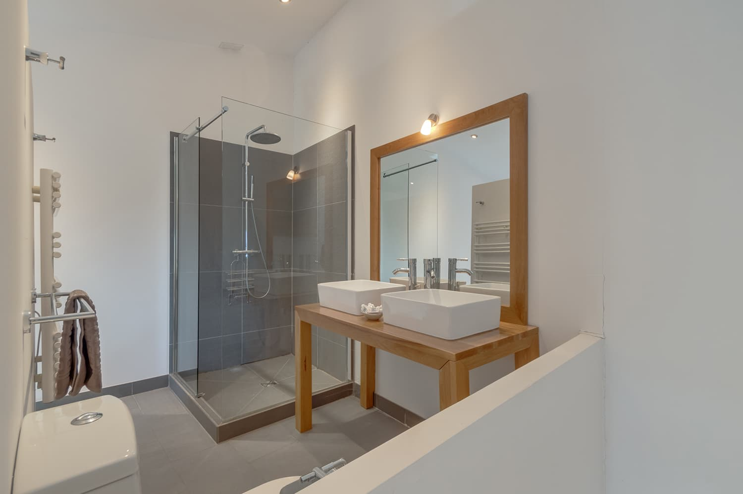 Bathroom in pigeonnier apartment