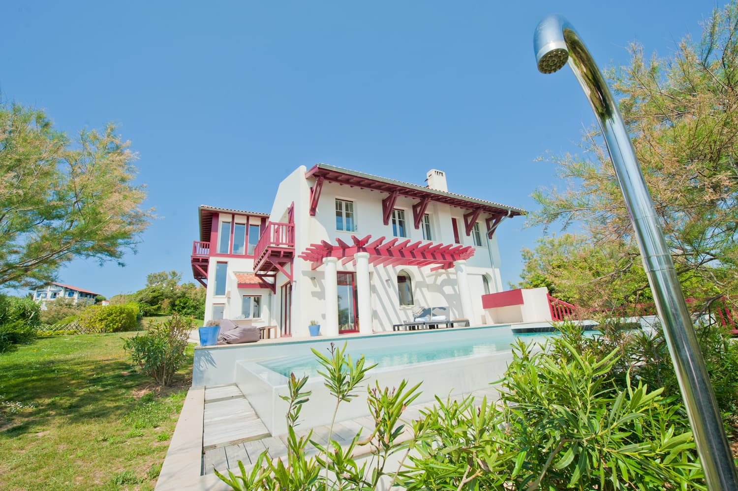 Biarritz holiday villa with private, heated pool