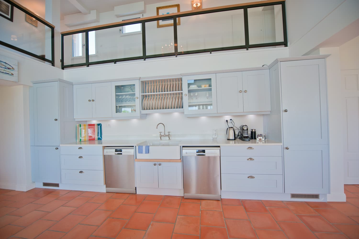 Kitchen in Biarritz holiday villa