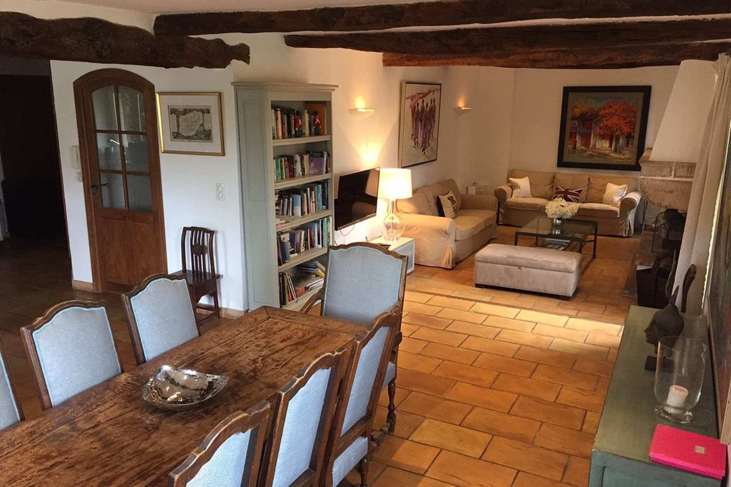Living room in Provence holiday home