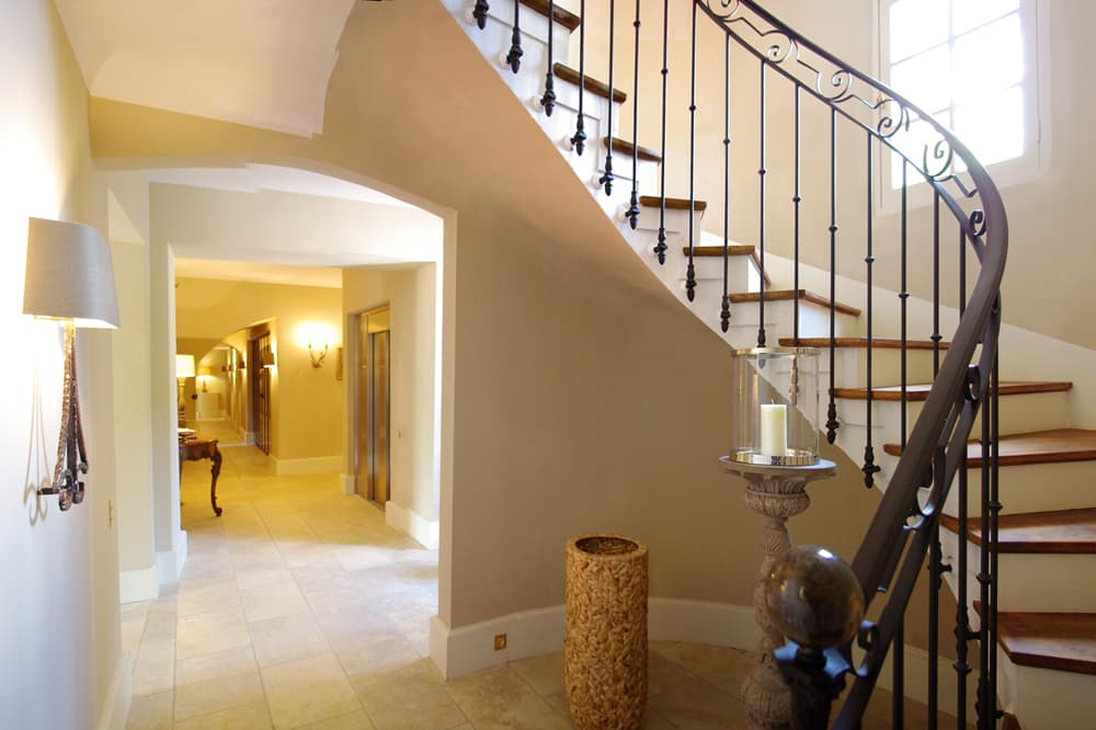 Staircase in Provence rental home