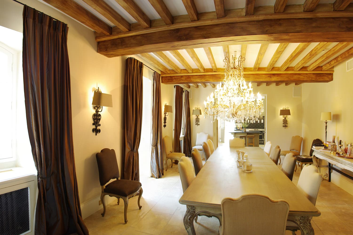 Dining room in Provence rental home