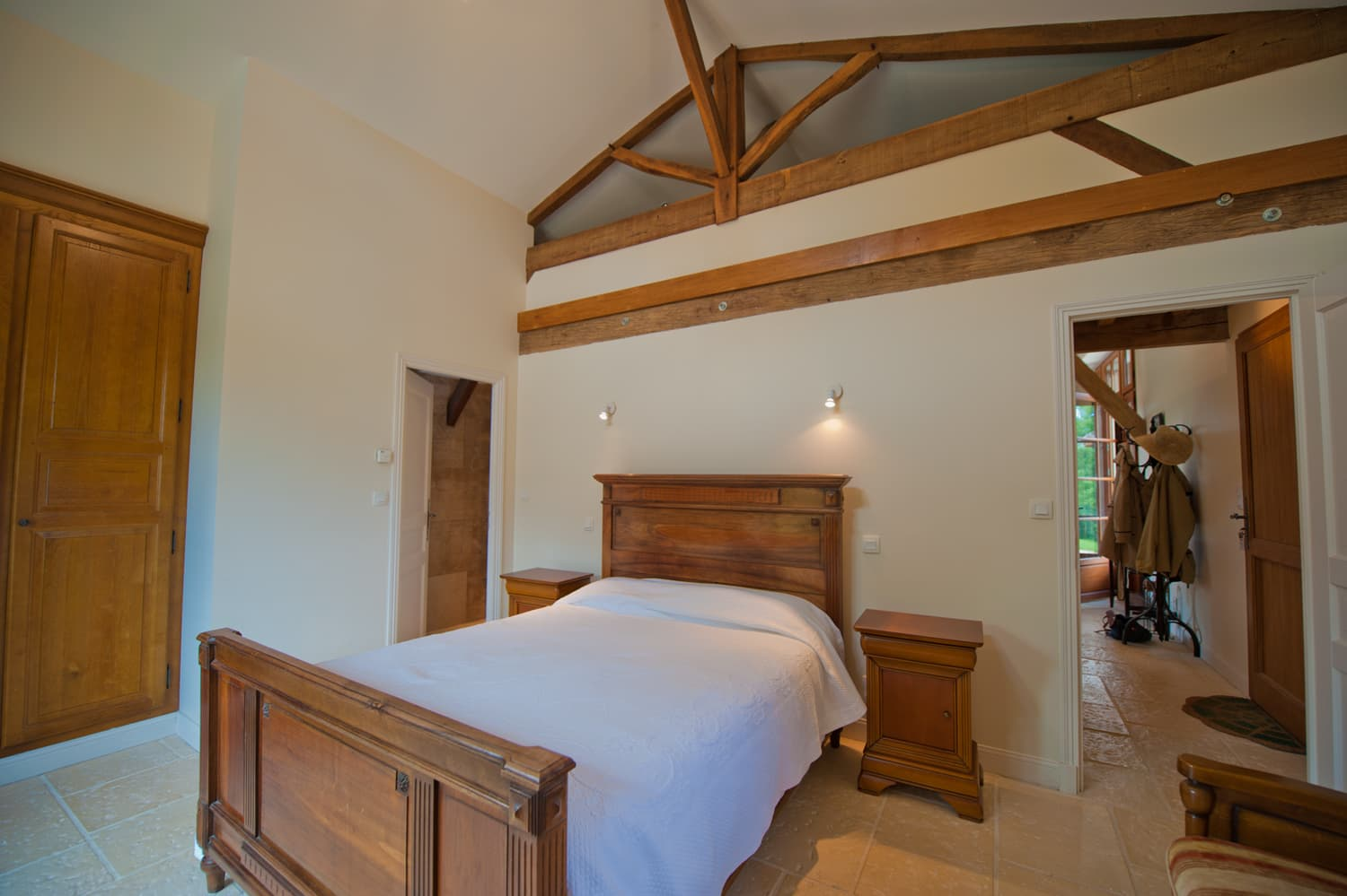 Bedroom in Dordogne holiday villa