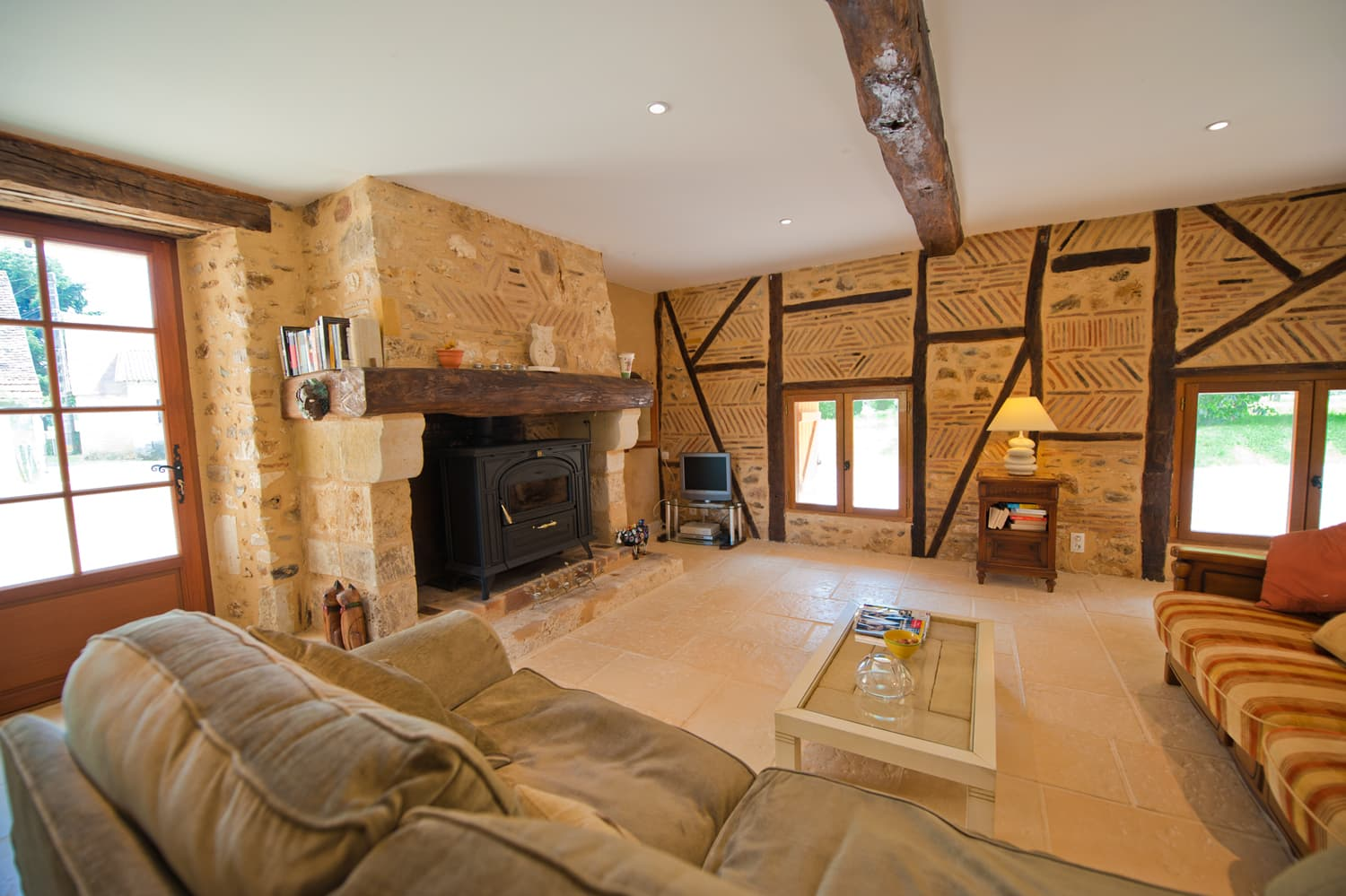 Living room in Dordogne holiday villa