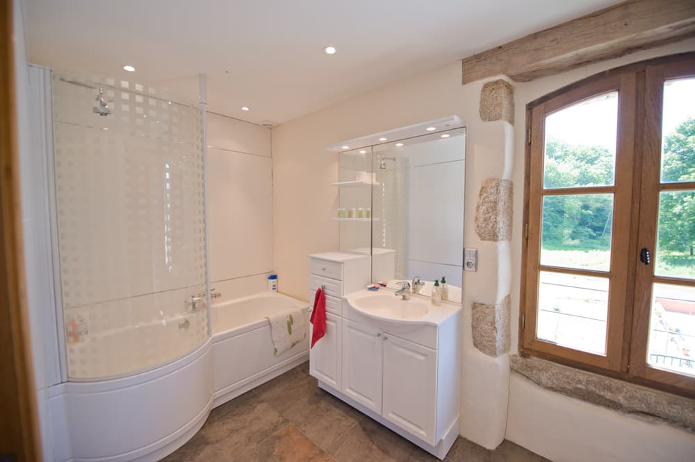 Bathroom in South West France holiday home