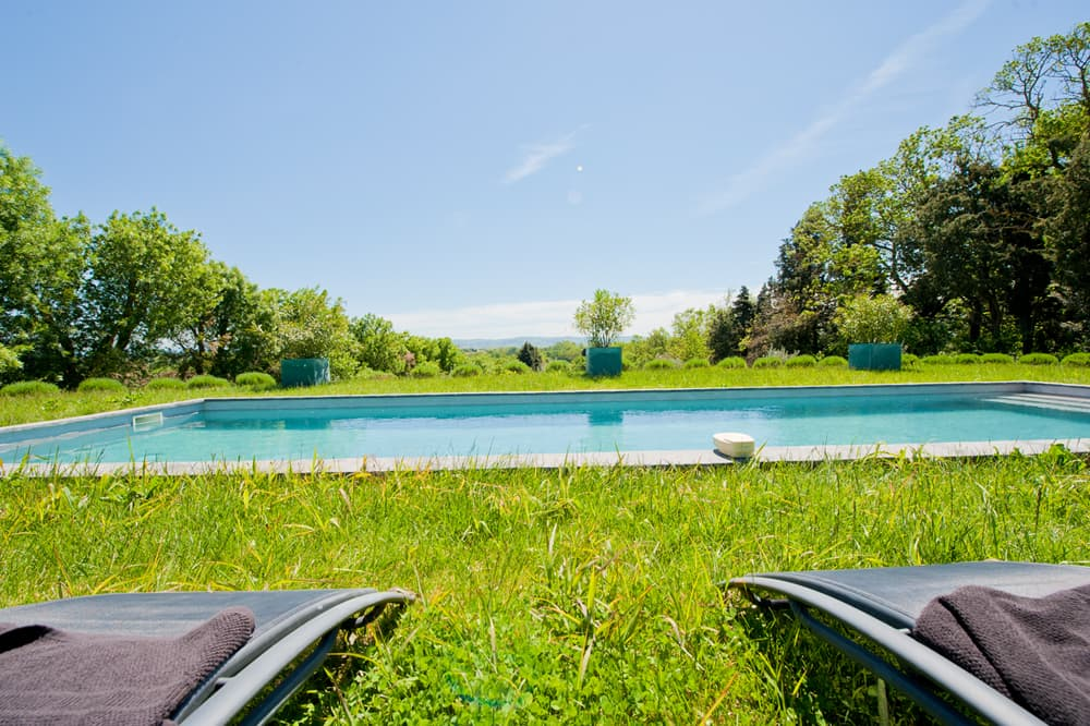 Private pool in Languedoc with lawned garden