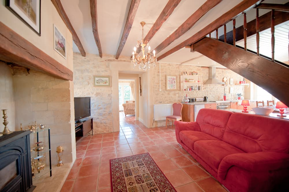 Living room in Dordogne holiday accommodation