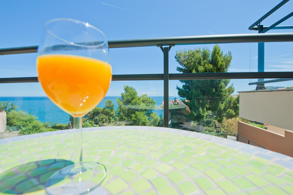 Terrace with Mediterranean Sea views in Collioure