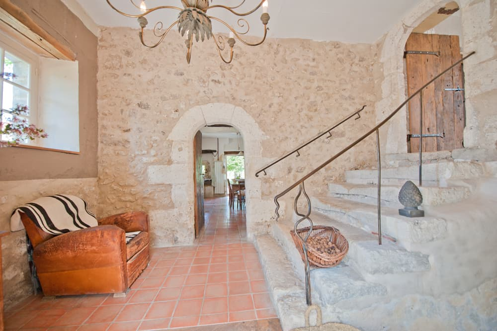 Staircase in Dordogne rental accommodation