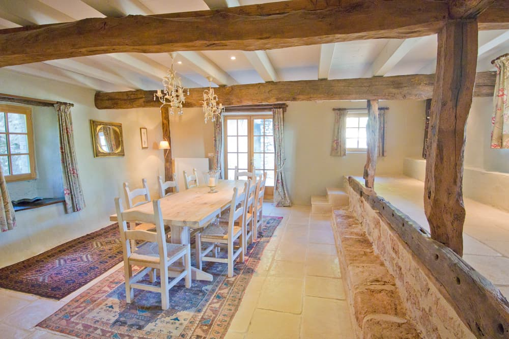 Dining room in South West France self-catering accommodation