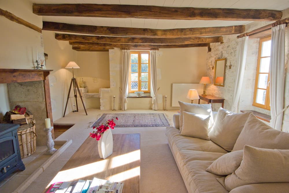 Living room in South West France self-catering accommodation