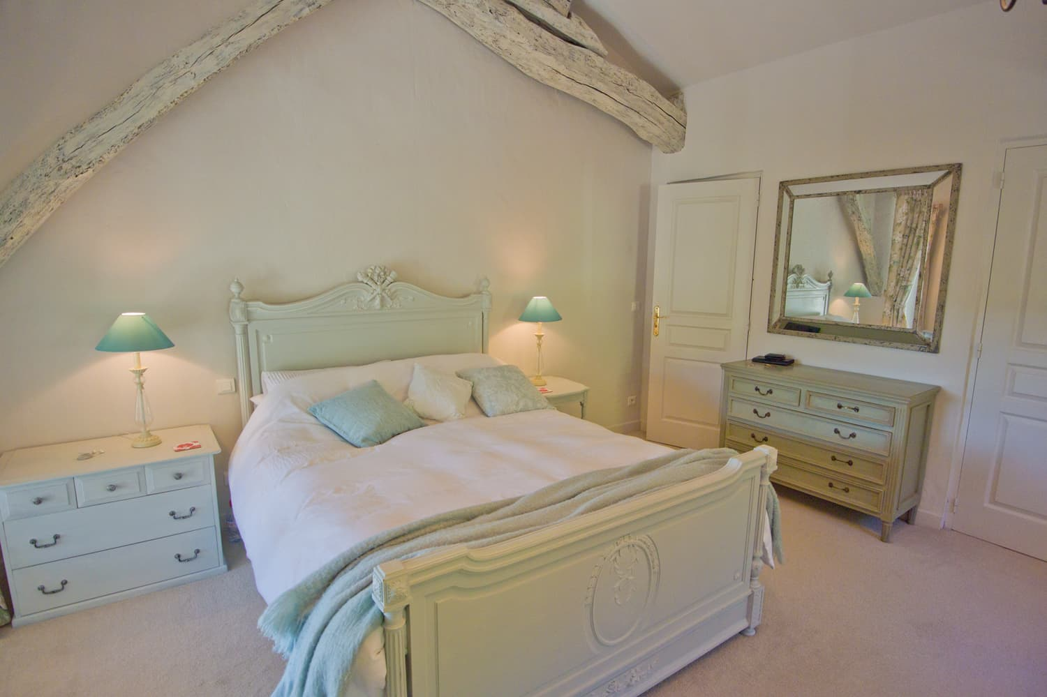 Bedroom in South West France self-catering accommodation