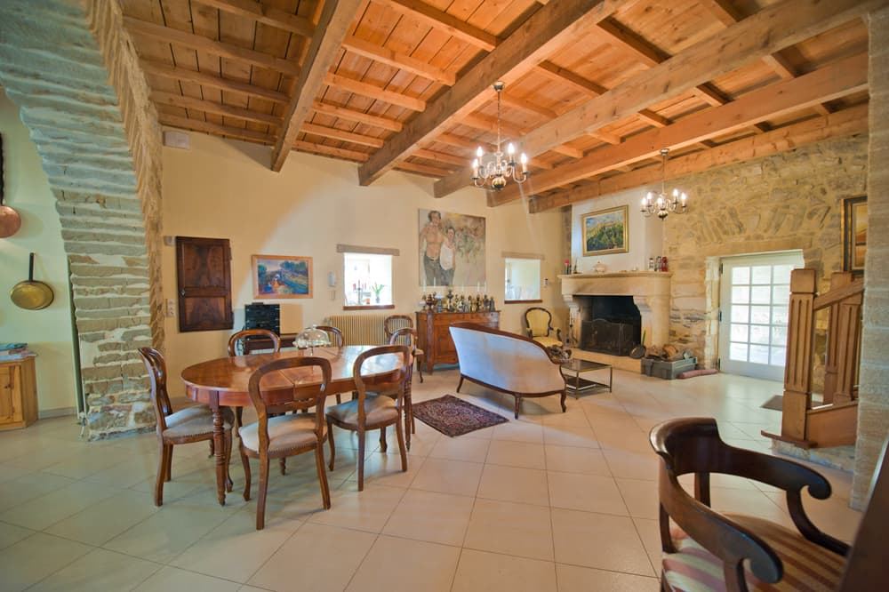 Living room in Languedoc holiday accommodation