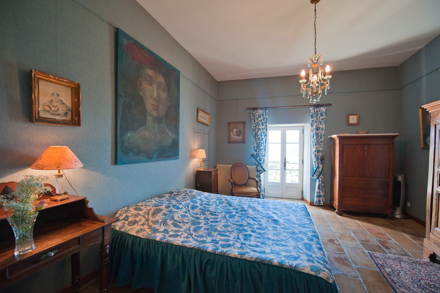Bedroom in Languedoc holiday accommodation