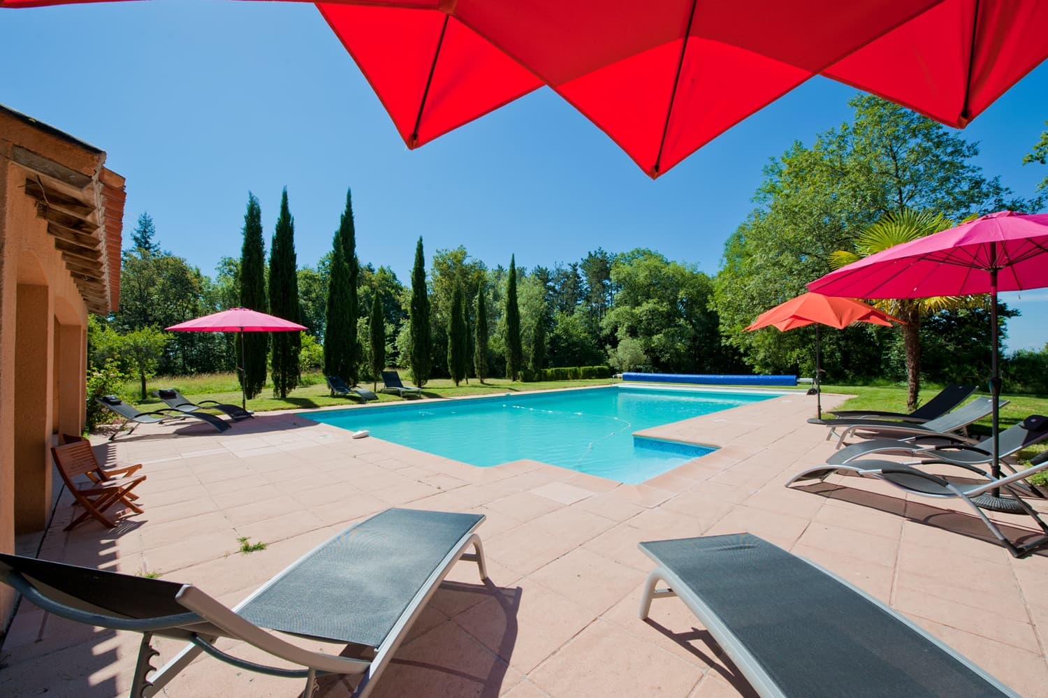 Private, heated pool with sun terrace and loungers