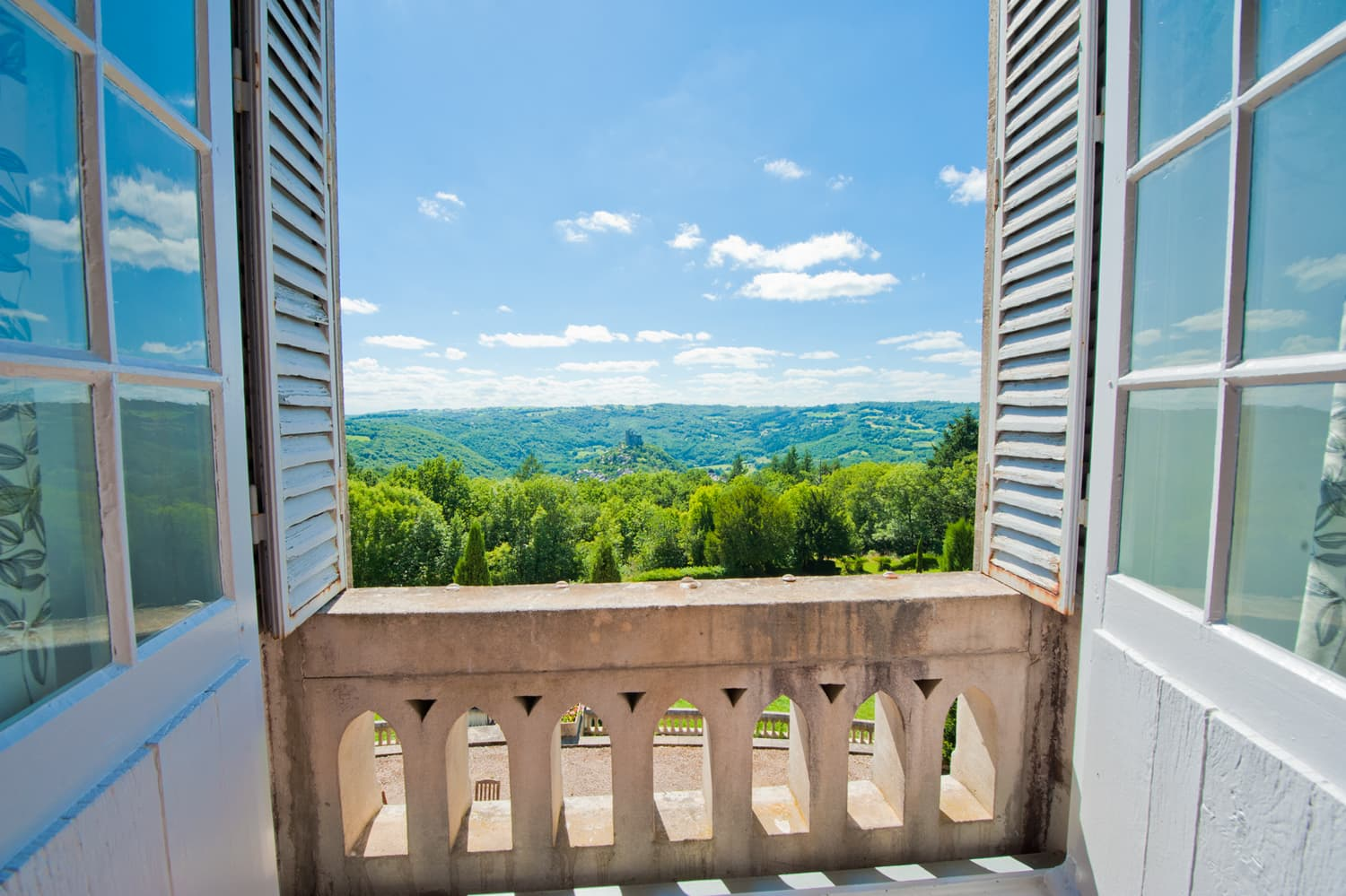 View from château bedroom window