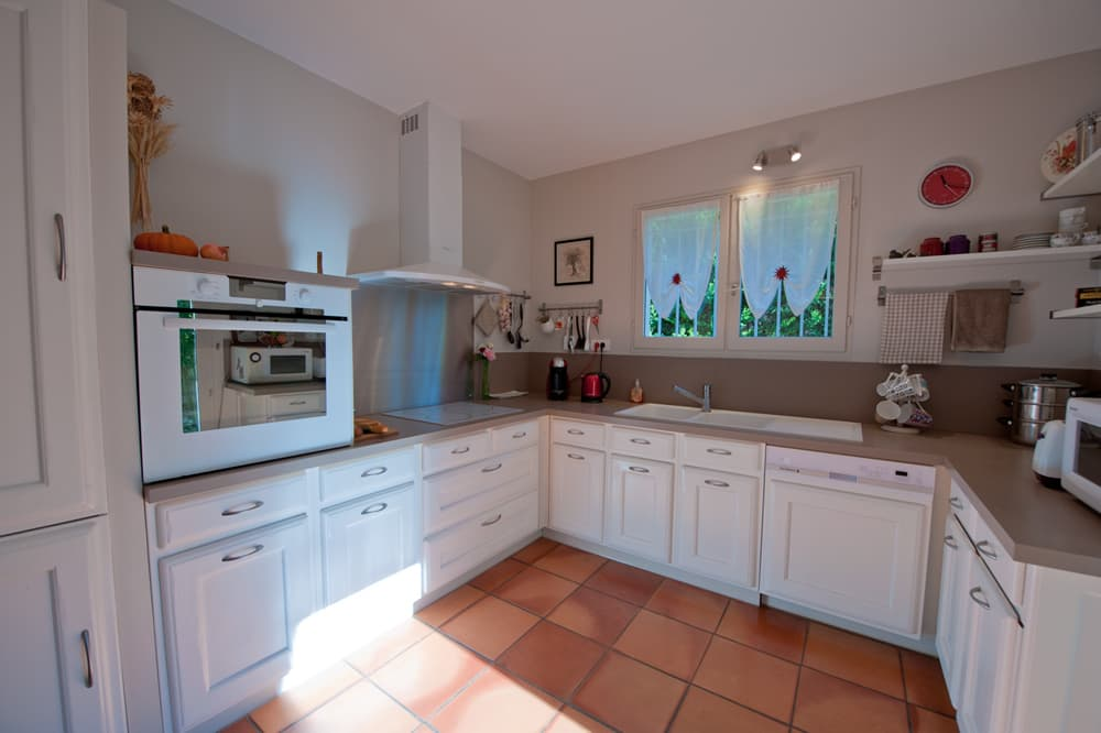 Kitchen in Languedoc holiday villa