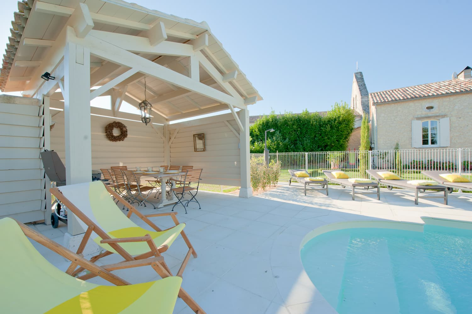 Covered terrace and private, heated pool