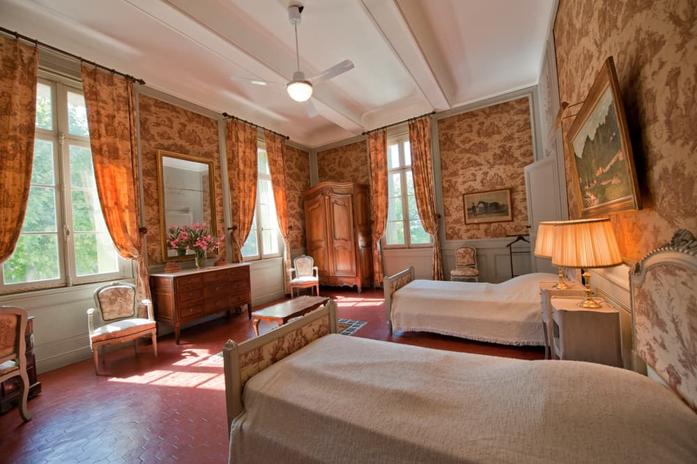 Bedroom in Languedoc holiday château