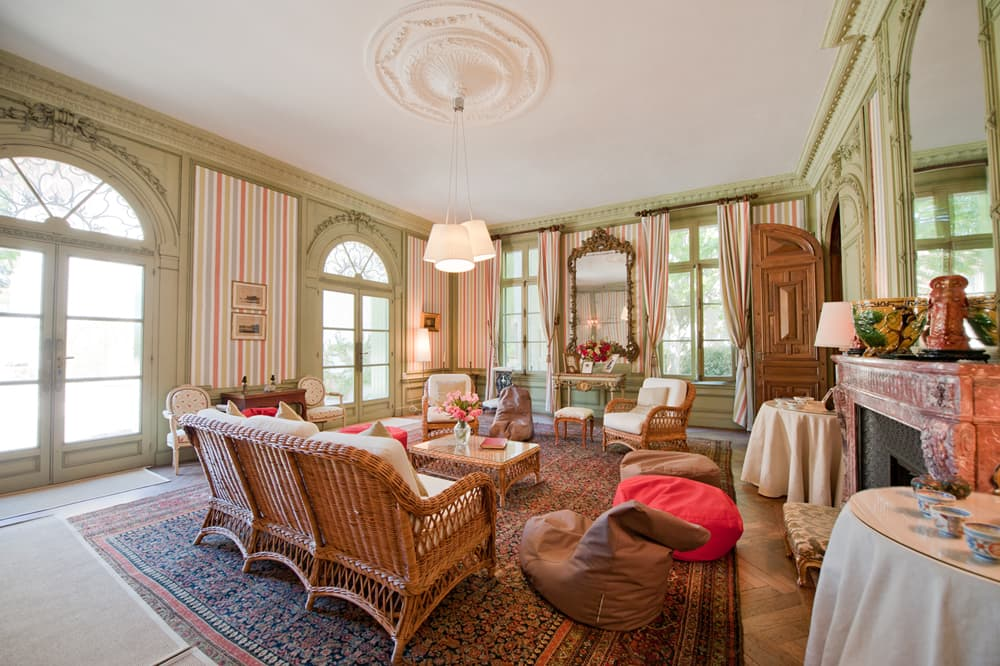 Living room in Languedoc holiday château