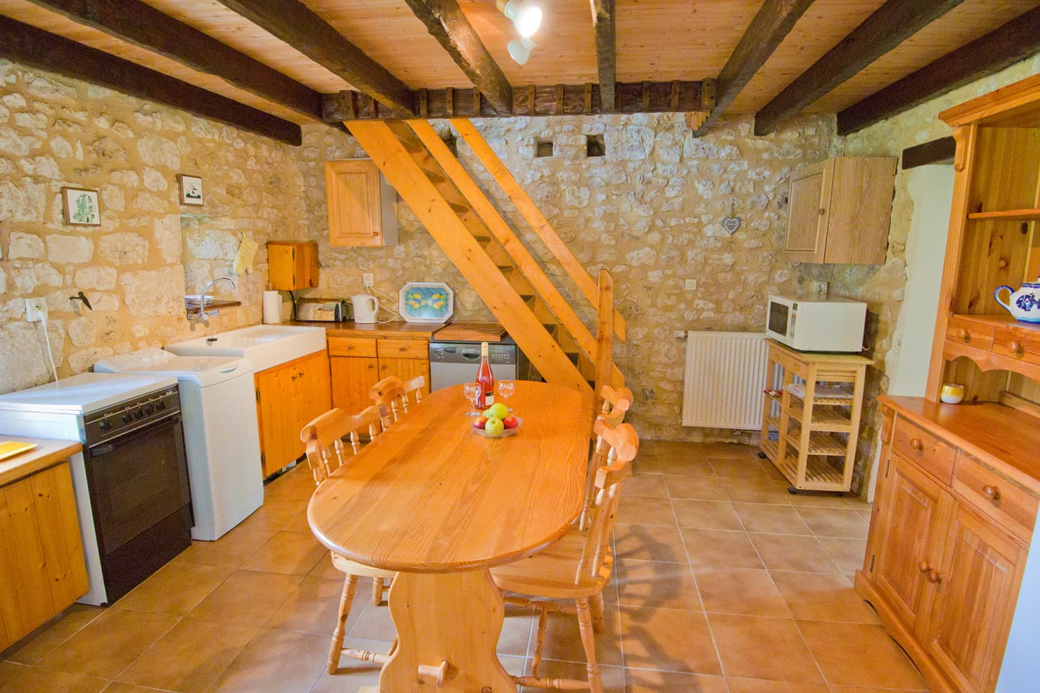 Kitchen in Dordogne holiday home