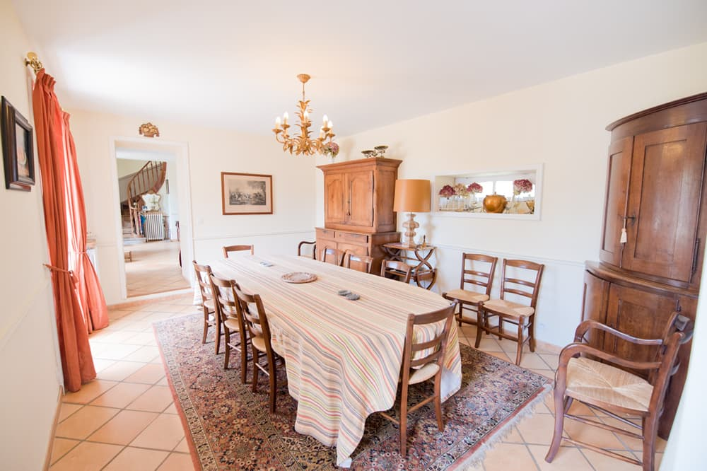 Dining room in West France holiday home