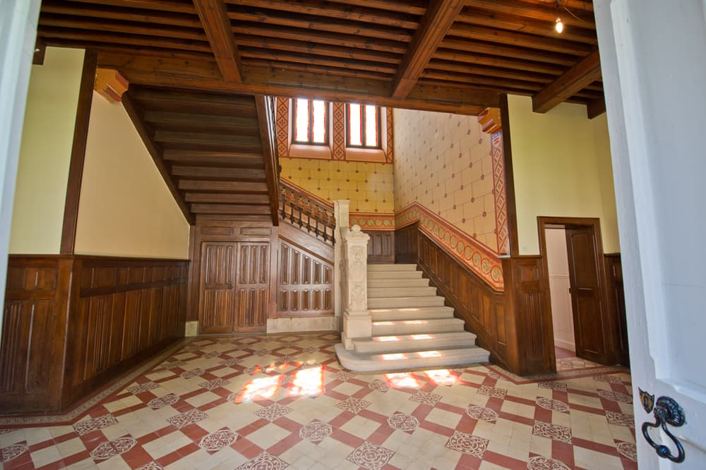 Staircase in Limousin holiday château