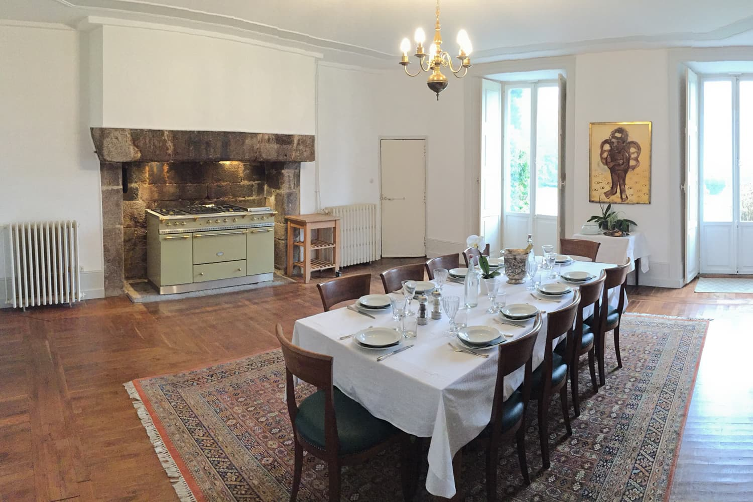 Dining room in Limousin holiday château