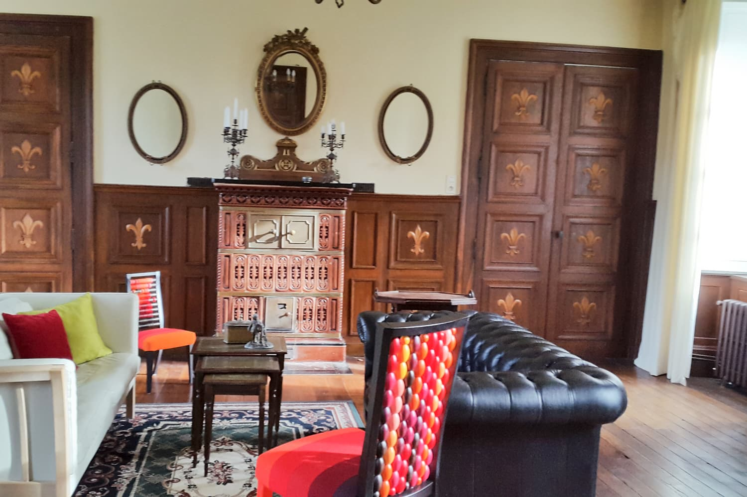 Living room in Limousin holiday château