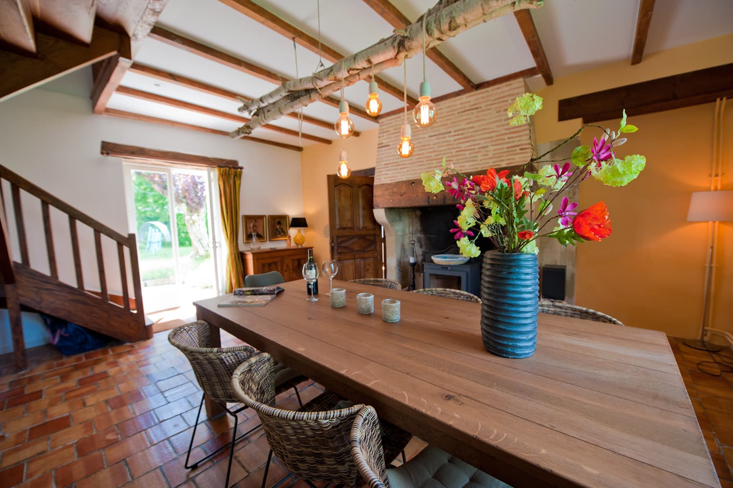 Dining room in Lot-et-Garonne rental accommodation