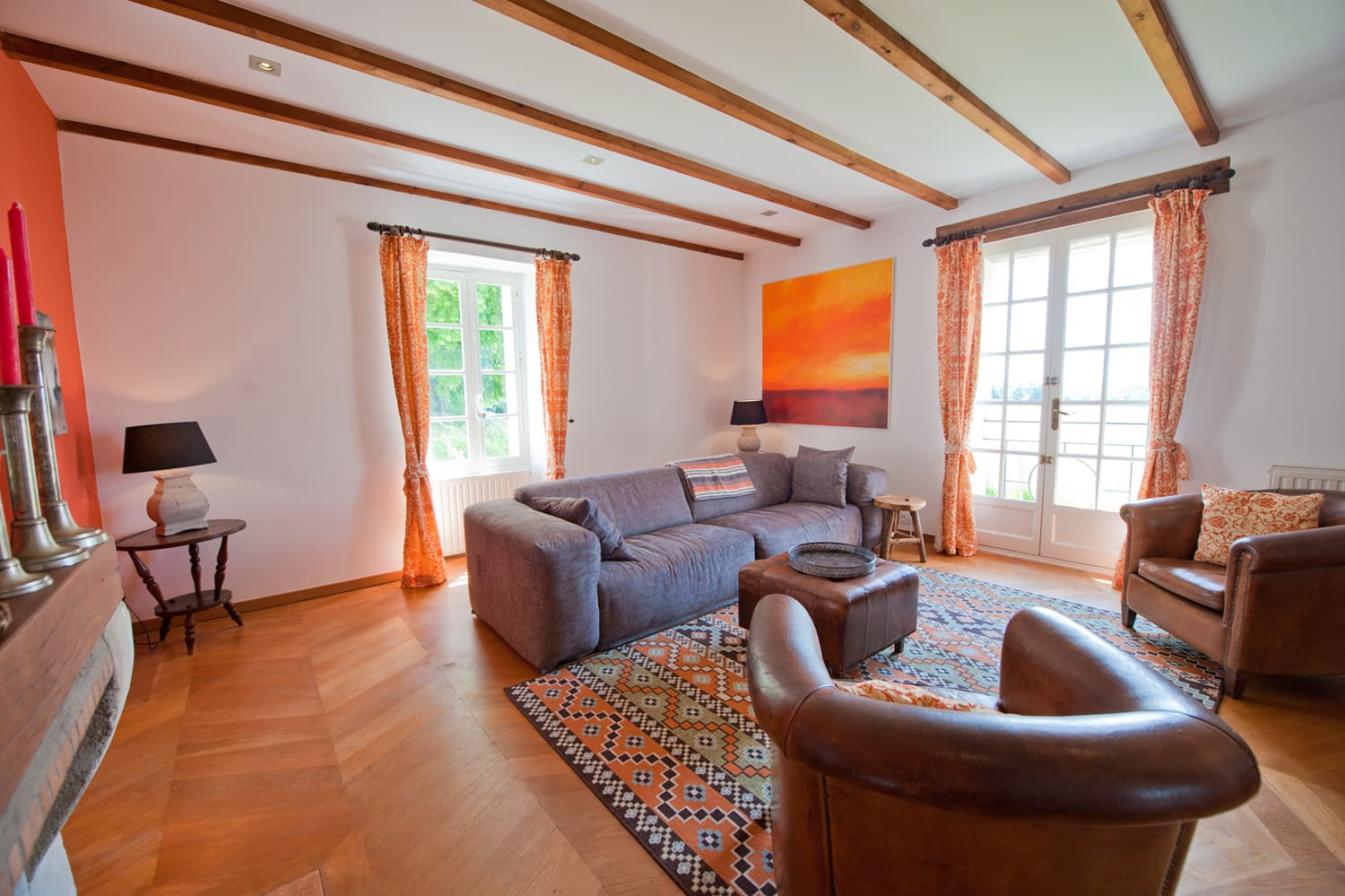 Living room in Lot-et-Garonne rental accommodation