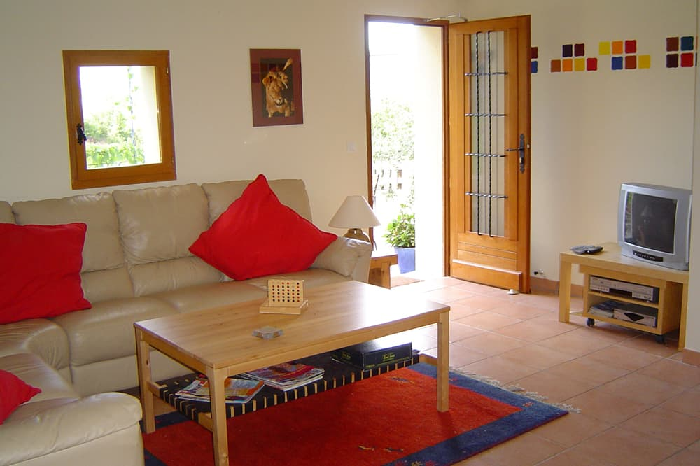 Living room in Hautes-Alpes holiday accommodation