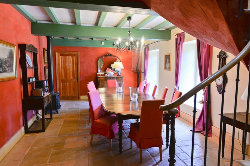 Dining room in South West France holiday home