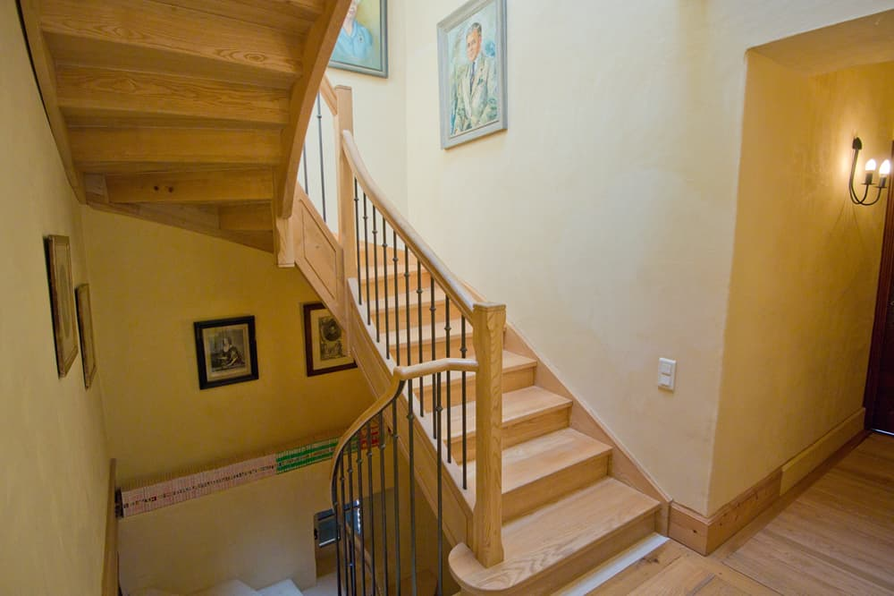 Staircase in South West France holiday home