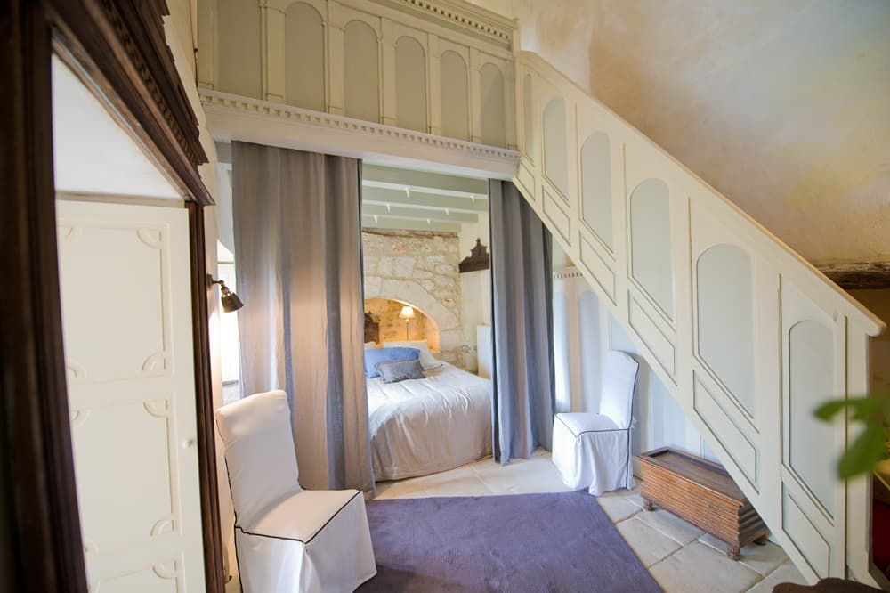 Bedroom in Charente holiday château