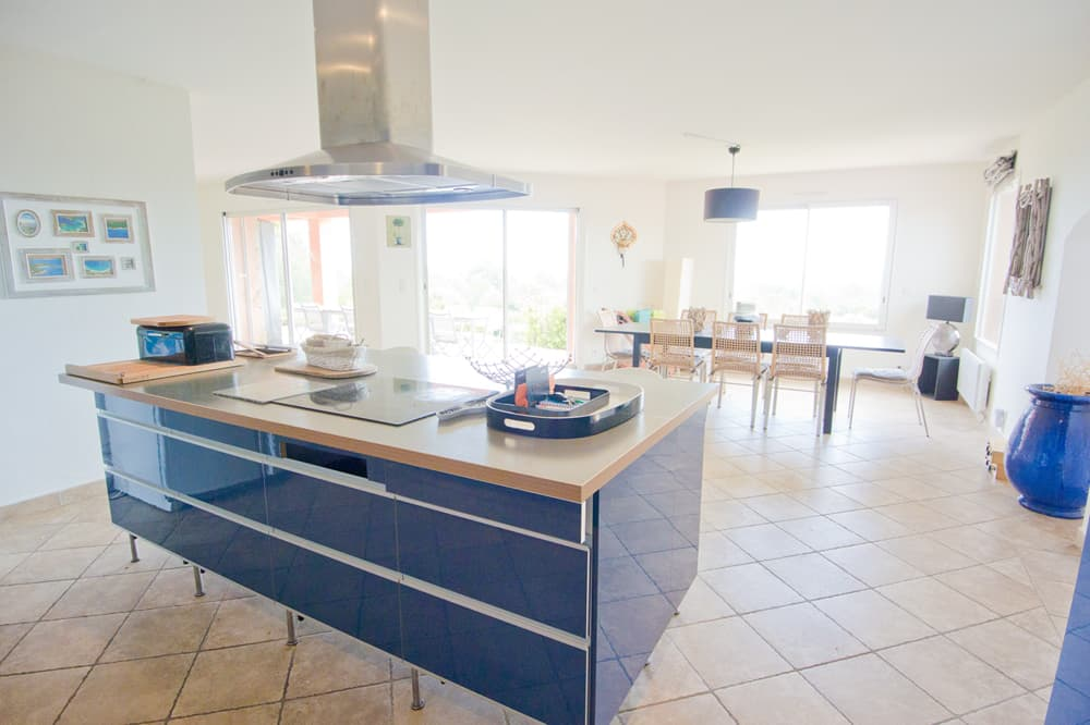 Kitchen in Corsica holiday villa
