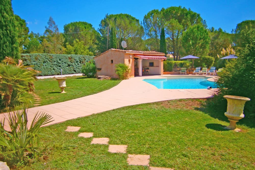 Private, heated= pool with terrace and garden