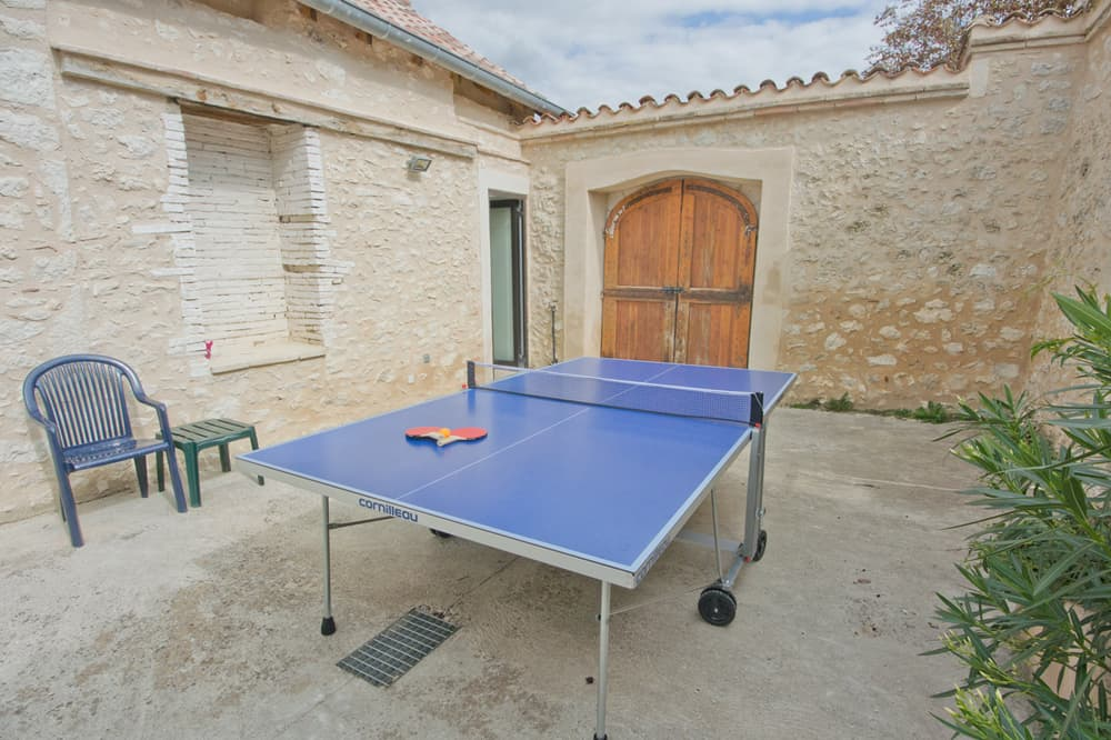 Courtyard with table tennis