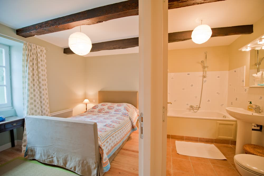 Bedroom in South West France holiday home