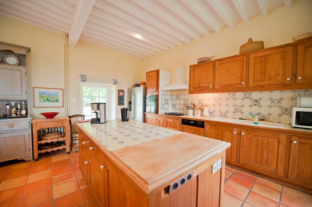 Kitchen in South West France holiday home